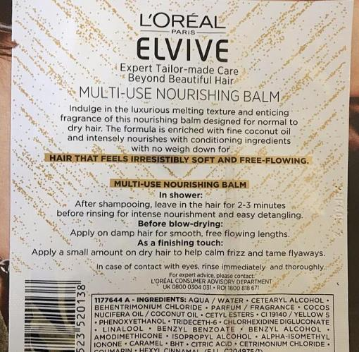 L'oreal elvive sample