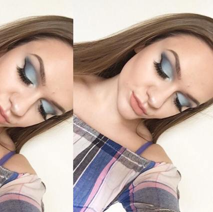 NYX Wind makeup look