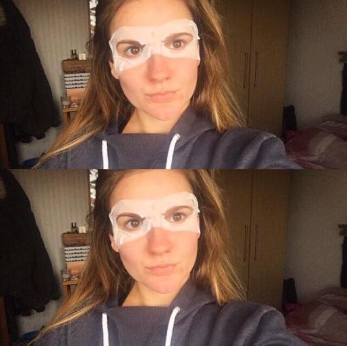 Garnier tissue eye mask